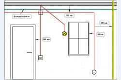 Схема штробления бетонної стіни під електропроводку