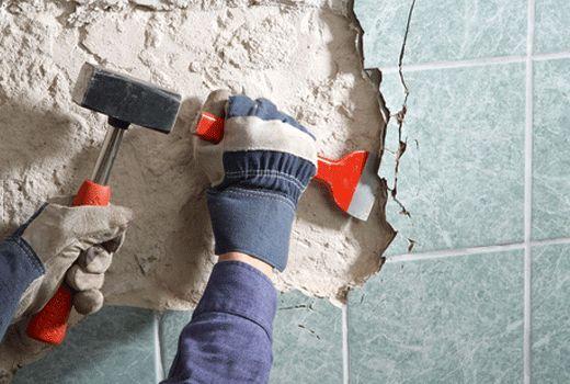 Зняття плитки зі стіни