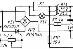 Схема електронного блоку для контактного зварювання
