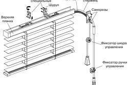 Схема збірки горизонтальних жалюзі