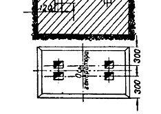 Малюнок 1. Пристрій фундаменту для електричного двигуна.