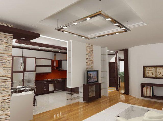 Фото - Як створити інтер'єр кухні вітальні?