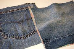 Почворк на джинсової тканини