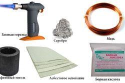 Матеріали і інструменти для пайки латуні
