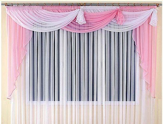 Прозорі штори з ламбрекеном