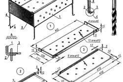 Схема збірки мангала