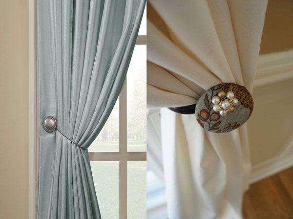 Фото - Як своїми руками закріпити магніти на шторах?