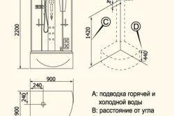 Схема монтажу душової кабіни