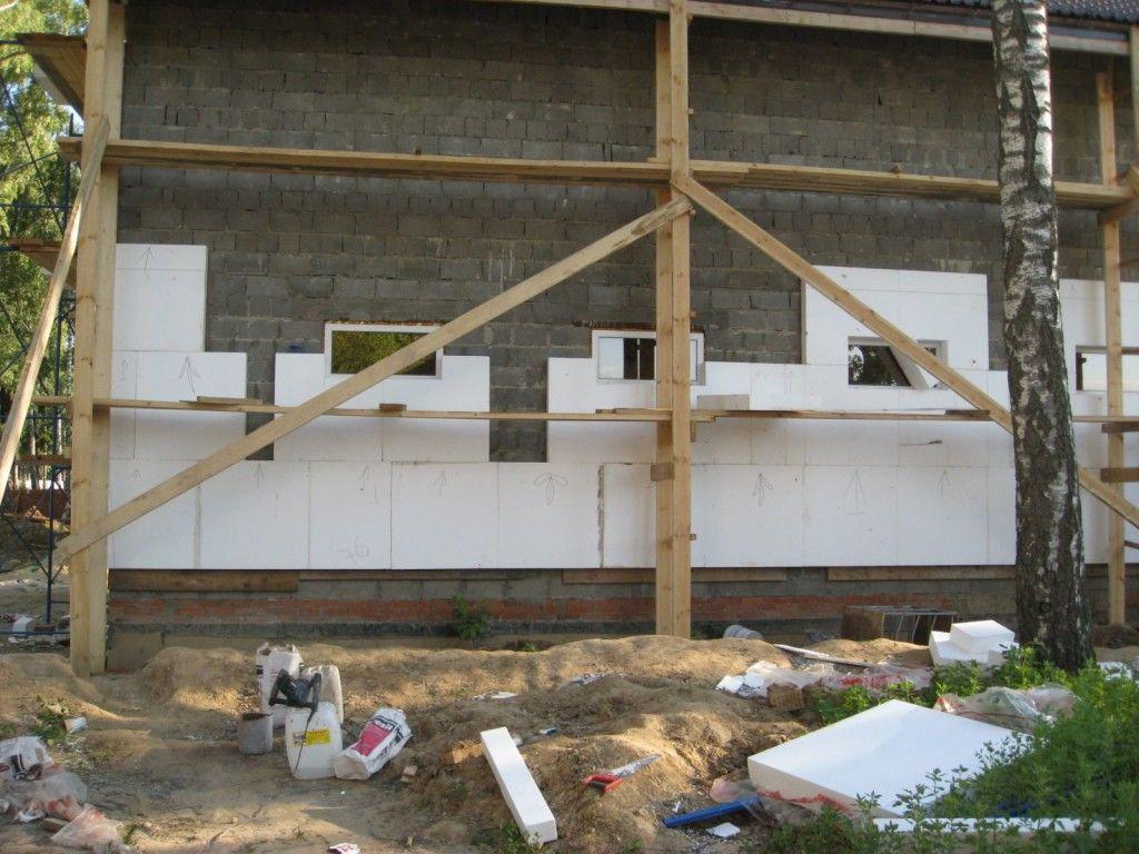Утеплення будинку з керамзитобетонних блоків пінопластом