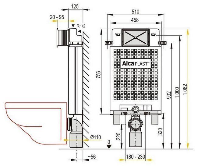 Прихована система alcaplast-M279