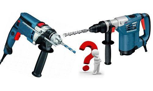 Фото - Як вибрати інструмент: чим дриль відрізняється від перфоратора
