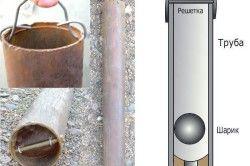 Схема очищення свердловини желонкою з кульковим клапаном