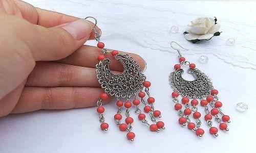 Фото - Як вибрати сережки з коралом в сріблі