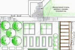 План ділянки з декоративним городом