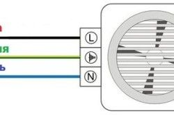Схема підключення в ванній вентилятора з датчиком вологості