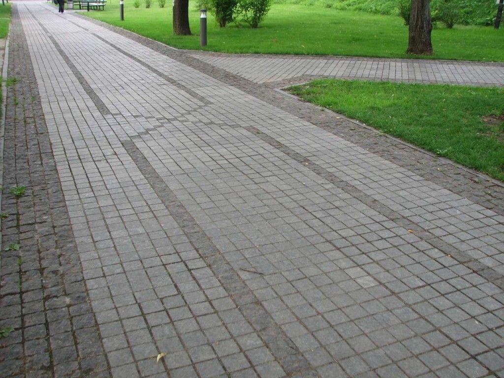 Фото - Як викласти тротуар або доріжку гранітною бруківкою?