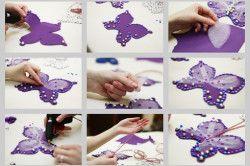 Етапи виготовлення прикраси для штори у вигляді метелика