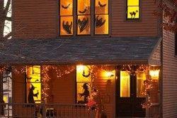 Приклад тематичних наклейок на вікна до Хеллоуїну