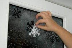 Приклад прикраси вікна до Нового року