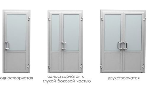 Різновиди пластикових дверей