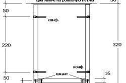 Схема монтажу сидіння табурета