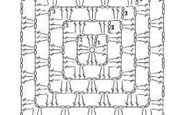 Схема чохла для табурета