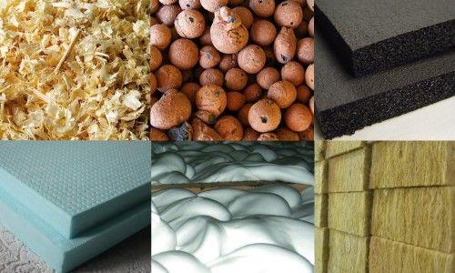 Види утеплювачів для даху: тирса, керамзит, спінений каучук, пінополістерол, піноізол, мінеральна вата.