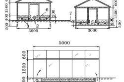 Схема теплиці для вирощування кавунів і динь