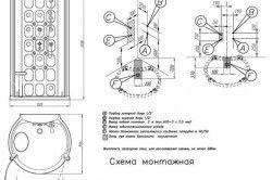 Монтажна схема душової кабіни