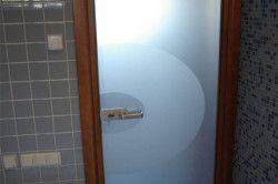 Двері для ванної на основі скла