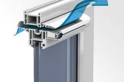 Віконний профіль з пристроєм повітрообміну