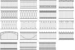 Варіанти металевих парканів