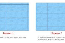 Яким чином здійснюється розкладка плитки у ванній кімнаті