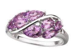 Срібний перстень з аметистами