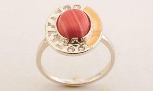 Срібний перстень з коралом