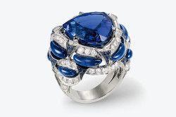 Срібний перстень з танзанитом