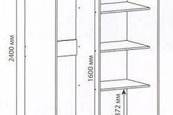 Схема шафи-купе на балкон