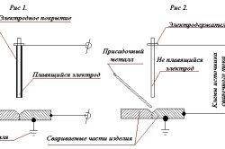 Схема зварювання плавкими і не плавкими електродами