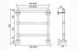 Схема конструкції рушникосушки