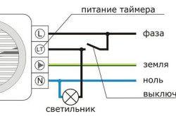 Схема підключення витяжного вентилятора