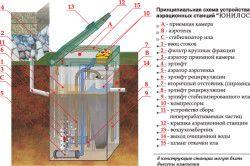 Схема пристрою септика Юнілос
