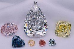 Колірна гамма алмазів