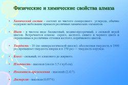 Фізичні та хімічні властивості алмазу