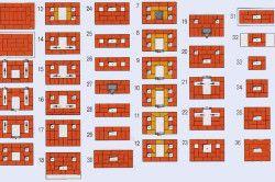 Схема кладки печі-голландки