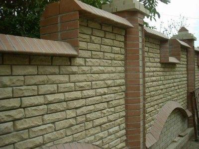 Фото - Цегляний паркан. Будівництво