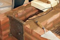 схема порядовки камінів з цегли