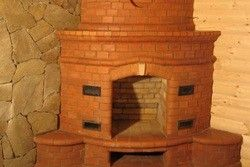 каміни дровяні з цегли