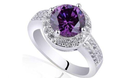 Срібний перстень з аметистом