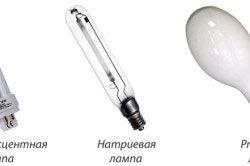 Види ламп для теплиць