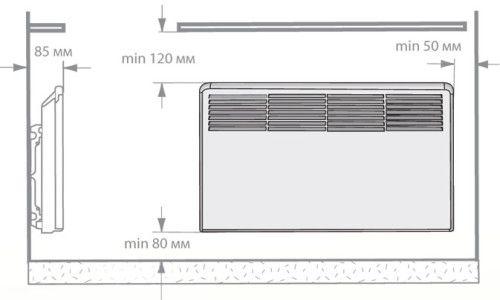 Креслення електричного конвектора
